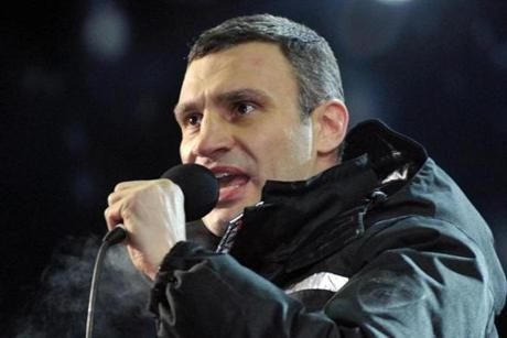 UDAR party head Vitali Klitschko spoke after talks with opposition leaders and President Viktor Yanukovych.